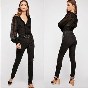 Free People Stella black skinny jean / NWT